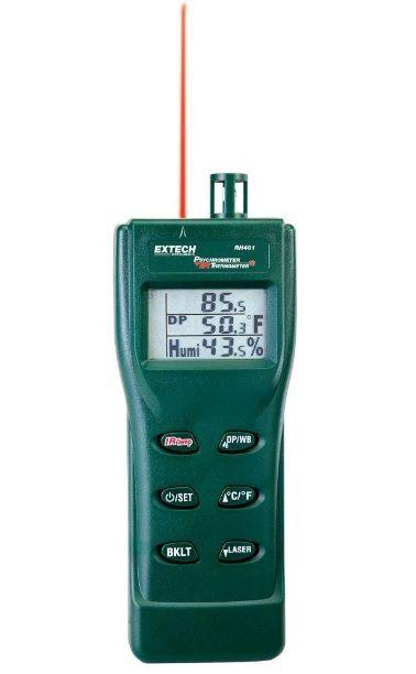 Extech-rh401 Cyfrowy wilgotnościomierz z termometrem IR