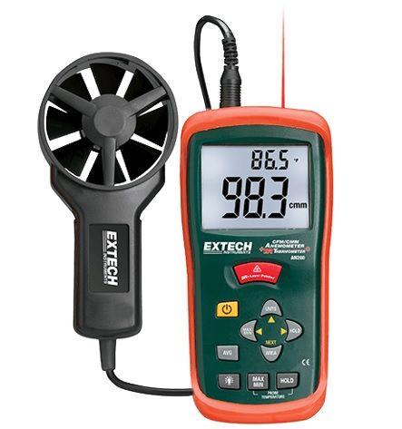 AN200 AN200: Anemometr CFM / CMM z wbudowanym termometrem IR